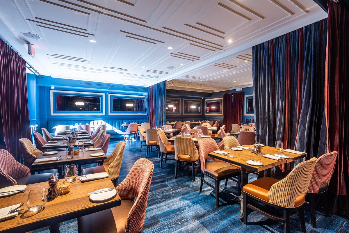 The private dining areas at Liberte
