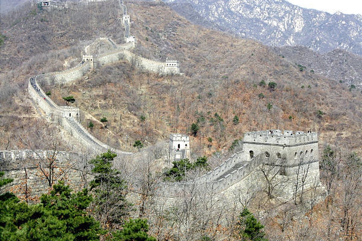 Mutianyu section of the Great Wall of China.