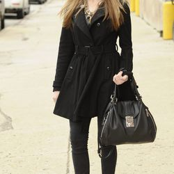 Kristina: Coat from Asos, a hat from H&M, statement necklace from Zara, Michael Kors bag, jeans from Target and Claudio Bernini boots.