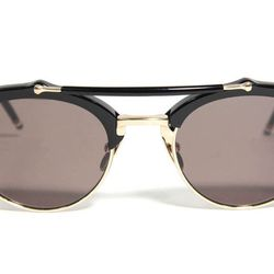 "<span class=""credit""><b>Thom Browne</b> TB-700 Sunglasses at <b>The Tannery</b>, <a href=""http://curatedbythetannery.com/products/tb-700-sunglasses"">$650</a></span><p>"