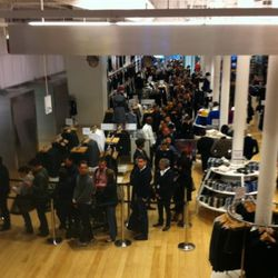 The line to snag +J pieces at Uniqlo in October at the release of the fall collab.