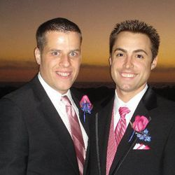 "Pro Bowler Scott ""Iceman"" Norton and Craig Woodward were married Oct. 22, 2011, at the Surf & Sand Resort in Laguna Beach, Calif."