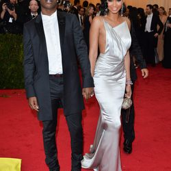 A$AP Rocky and Chanel Iman (in custom Topshop)
