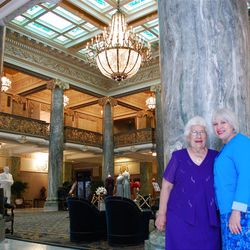 To Giovanna Fortunata Furano Milner, left, and her daughter Joanne Milner, the Hotel Utah/Joseph Smith Memorial Building is part of the family.