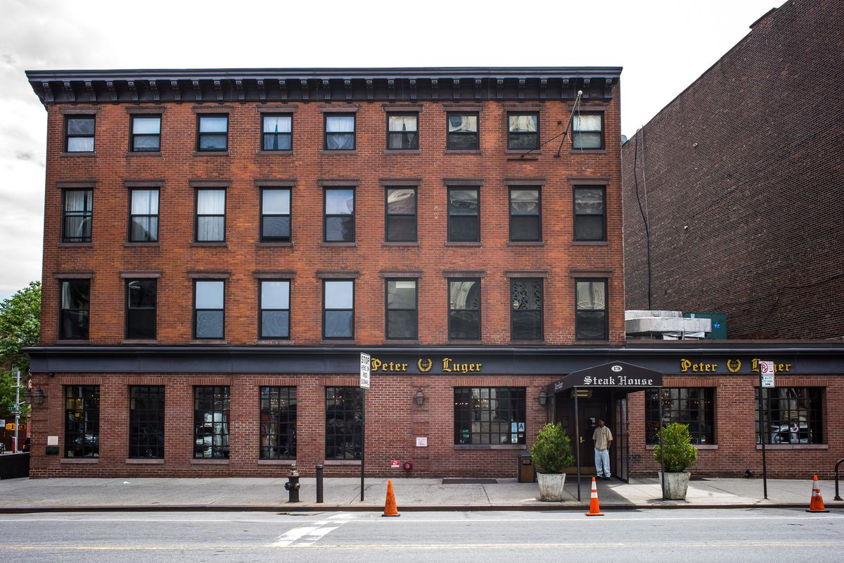 The brick building that houses Peter Luger