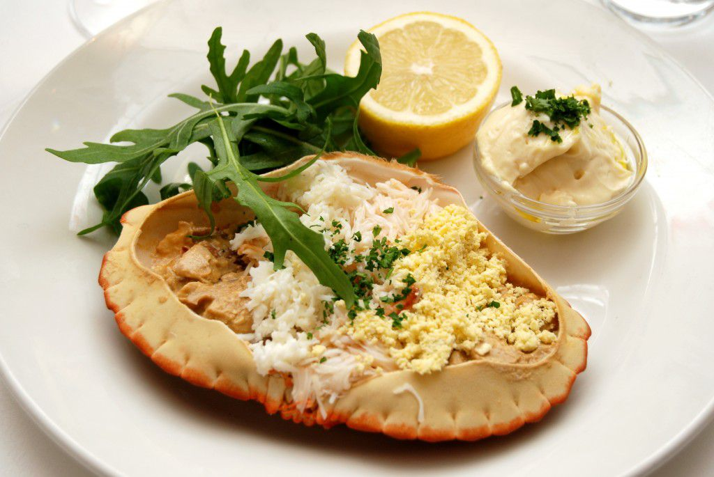 The best pub grub in London: dressed crab at The Cow pub in Westbourne Park Road