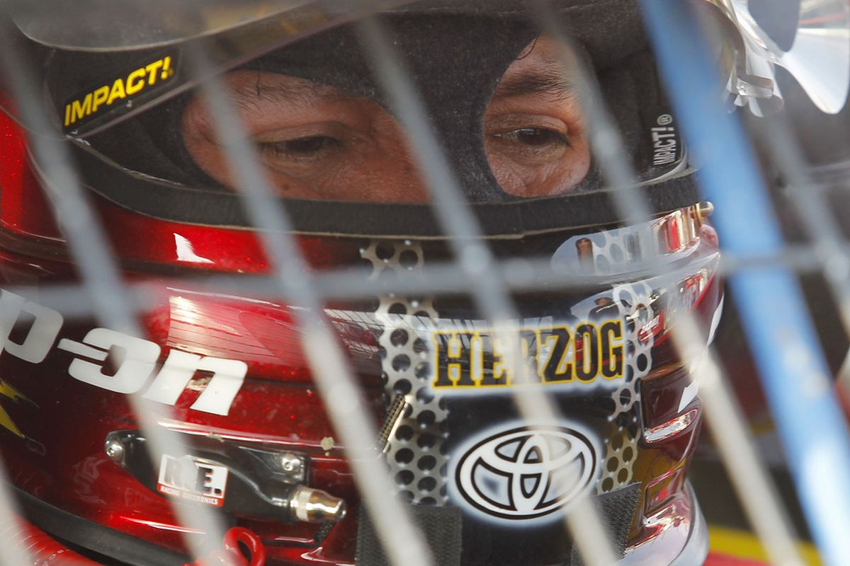 ROSSBURG, OH - JUNE 08:  Cruz Pedregon prepares to drive during practice before the running of Prelude To The Dream at Eldora Speedway on June 8, 2011 in Rossburg, Ohio.  (Photo by Todd Warshaw/Getty Images For True Speed Communications)