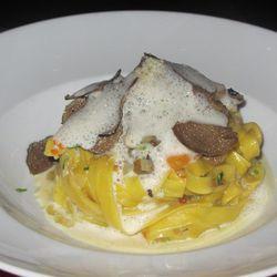 "Tagliatelle with truffle zabaglione from Scarpetta by <a href=""http://www.flickr.com/photos/alarmingnews/6217321072/in/pool-eater/"">KSheinin</a>. <br />"