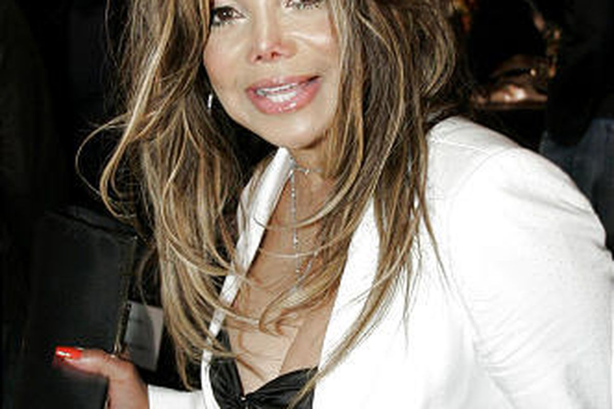 In this March 23, 2006 file photo, LaToya Jackson arrives for the Collection Bebe fall 2006 show during the Mercedes-Benz fashion week in Culver City, Calif.