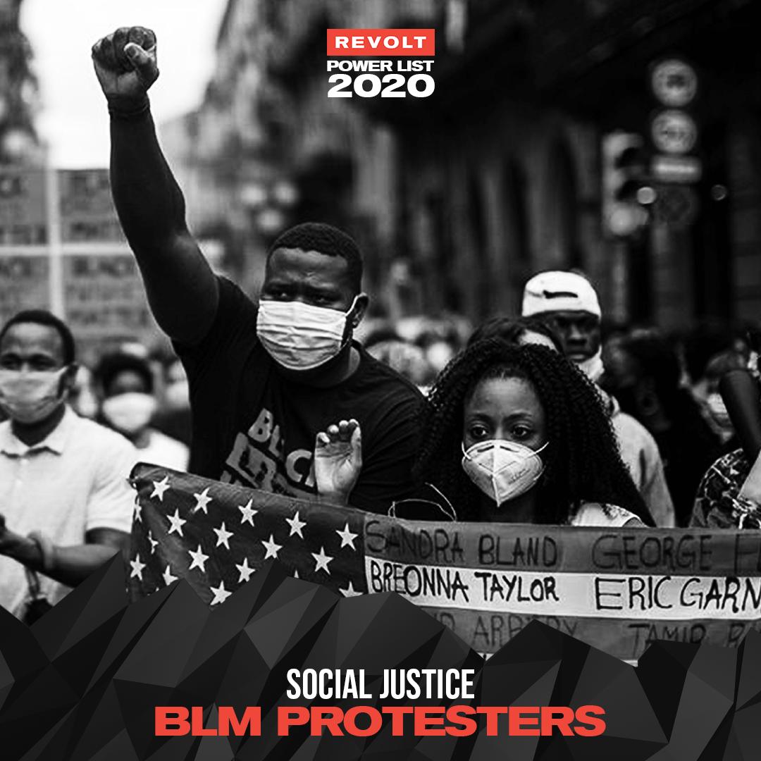 Black Lives Matter protesters - REVOLT Power List