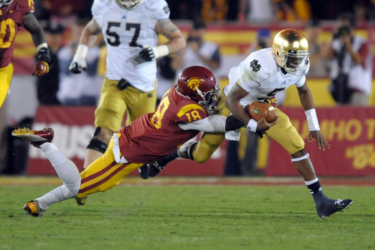 Marvell Tell is an athletic player that can tackle in space like former Trojan Dion Bailey (pictured).