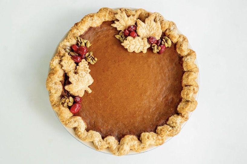The pumpkin pie from Fresa's