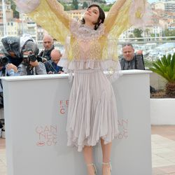 Soko wears Chloé at a photo call for 'The Dancer.'