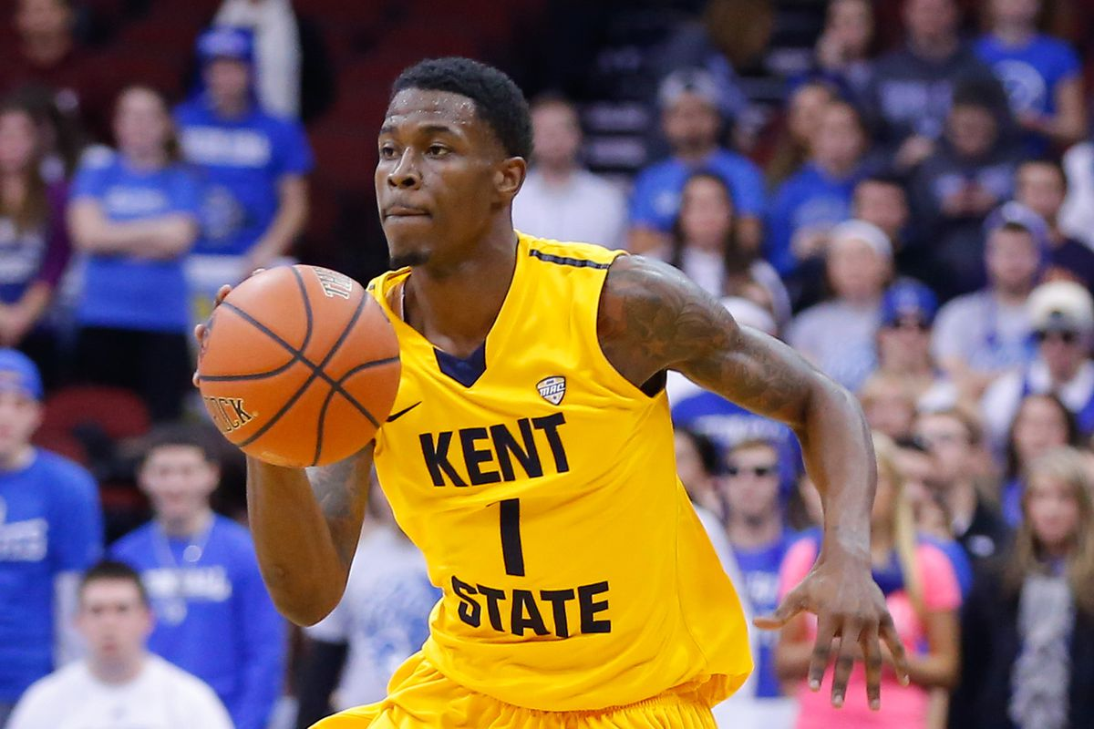Kris Brewer and the Golden Flashes will look to cause a stir in Lawrence on Tuesday