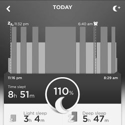 It's nice to be able to quantify exactly how relaxed you are on vacation. Five hours and 47 minutes of deep sleep! Well done, me!