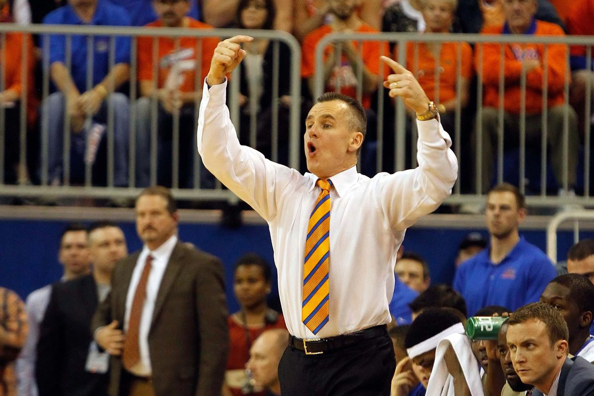Billy Donovan reacts to a missed free throw, probably.