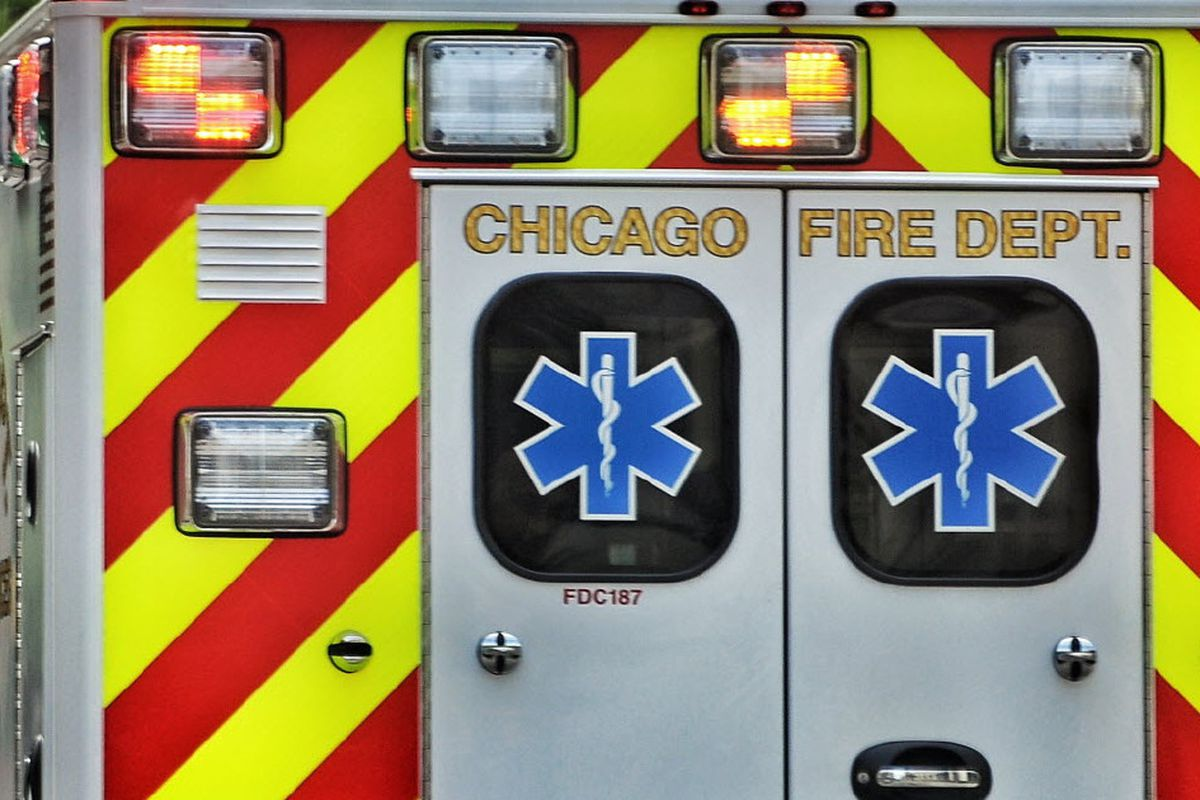 At least three people were taken to Resurrection Medical Center after a bus crash at O'Hare Airport Aug. 27, 2019.