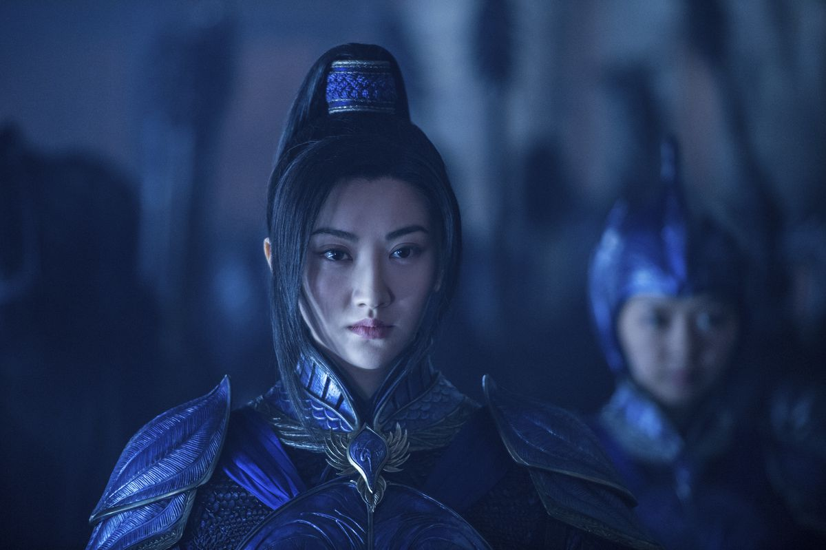 """Jing Tian as Commander Lin Mae in """"The Great Wall.""""   Legendary Pictures and Universal Pictures"""