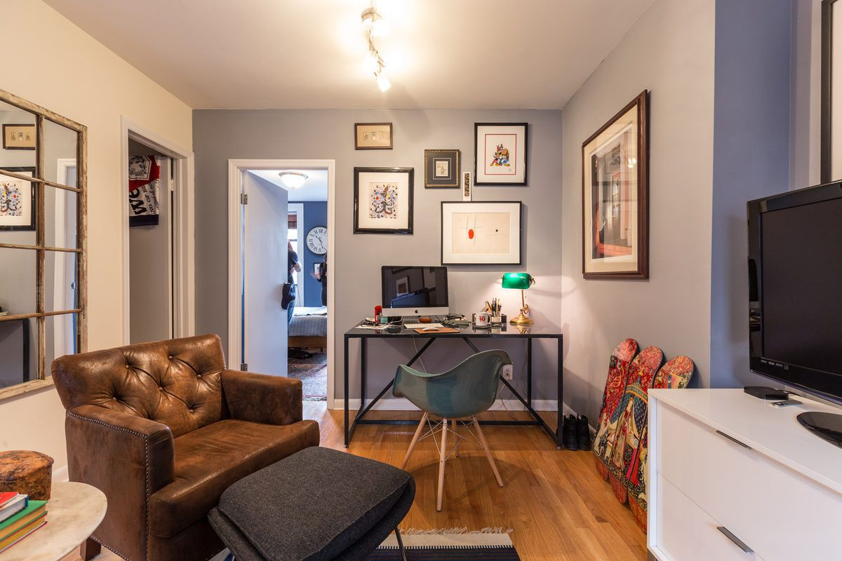 Jannuzzi moved into the sixth-floor walk-up from a 230-square-foot studio on the building's second floor. He's been in this apartment for a year now.