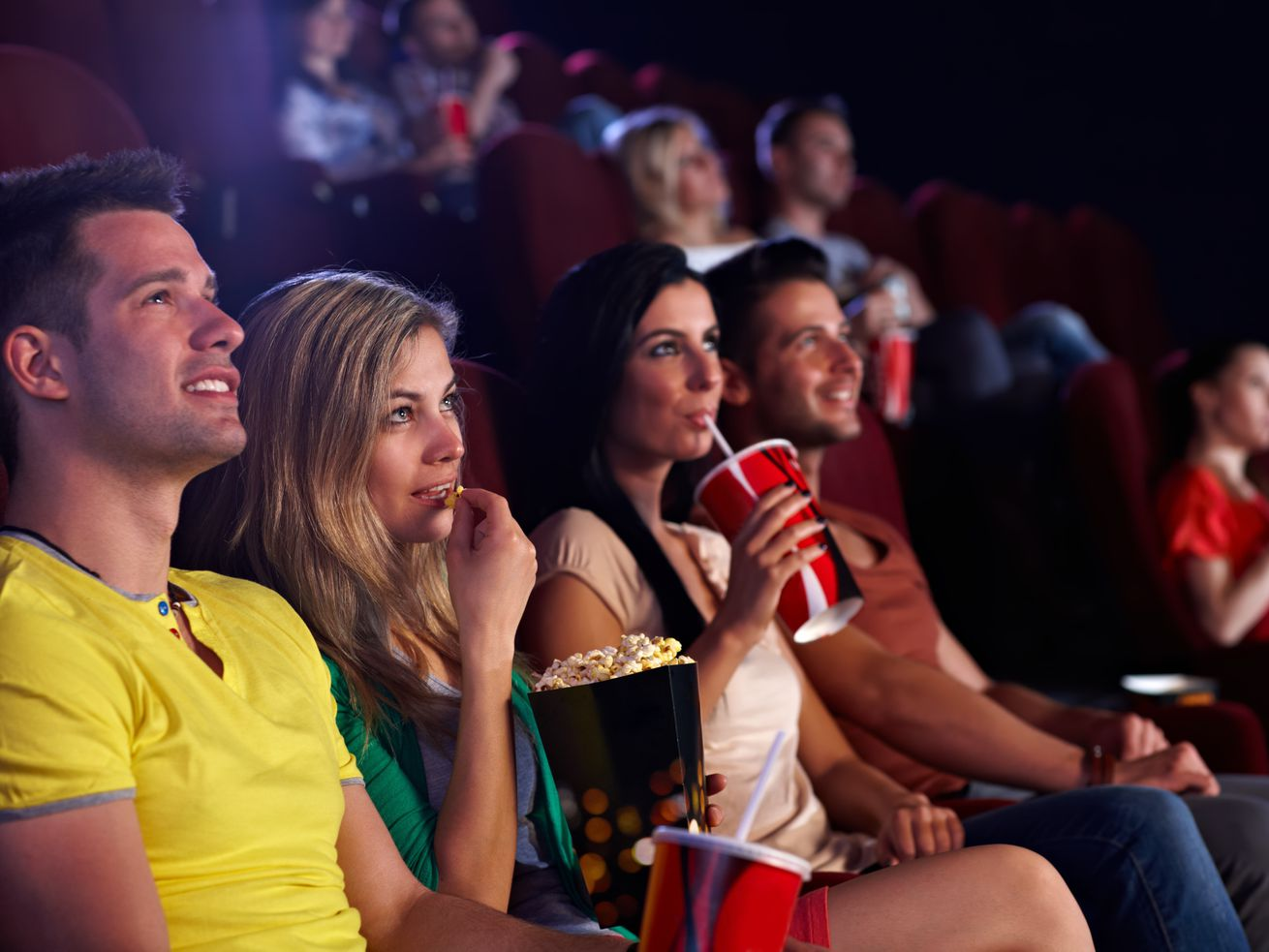 Looking for a light workout? Go to the movie theater, new study suggests