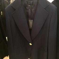 Navy blazer, $350 (from $1,790)
