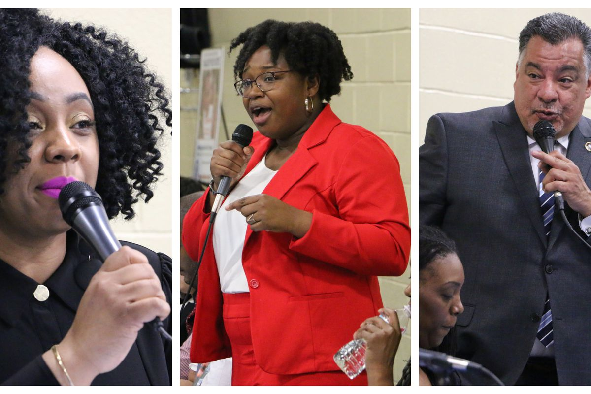 Shayvonne Anderson, A'Dorian Murray-Thomas, and Tave Padilla were elected to the Newark school board Tuesday.