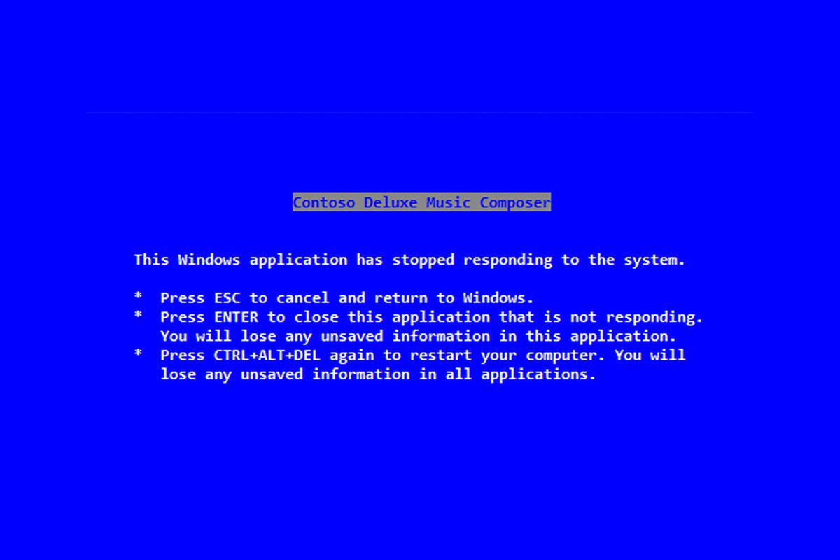 steve ballmer wrote the blue screen of death message the verge