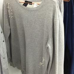 Drifter distressed sweatshirt, $135 (was $195)