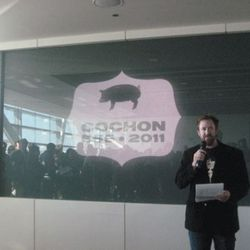 Cochon 555 founder Brady Lowe gets the party started.