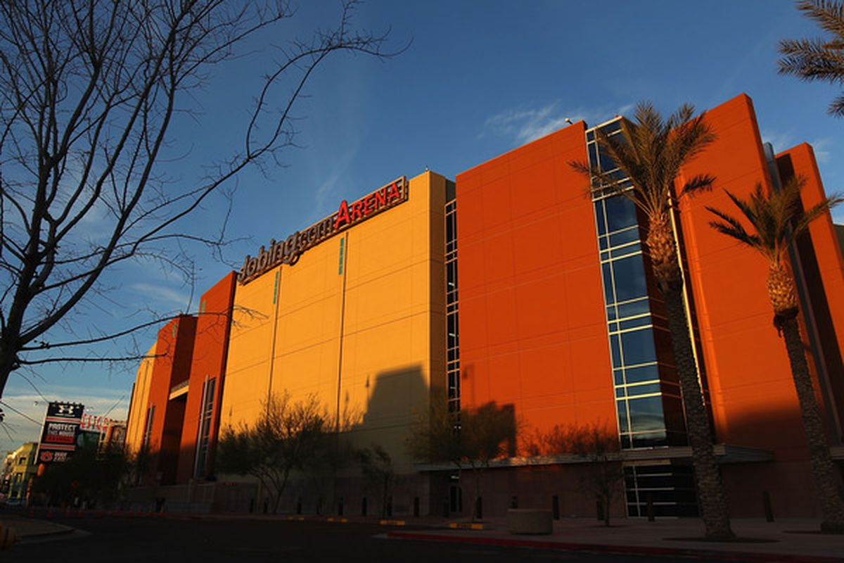 GLENDALE, AZ - MARCH 01:  General view of Jobing.com arena before the NHL game between the Dallas Stars and the Phoenix Coyotes on March 1, 2011 in Glendale, Arizona.  (Photo by Christian Petersen/Getty Images)