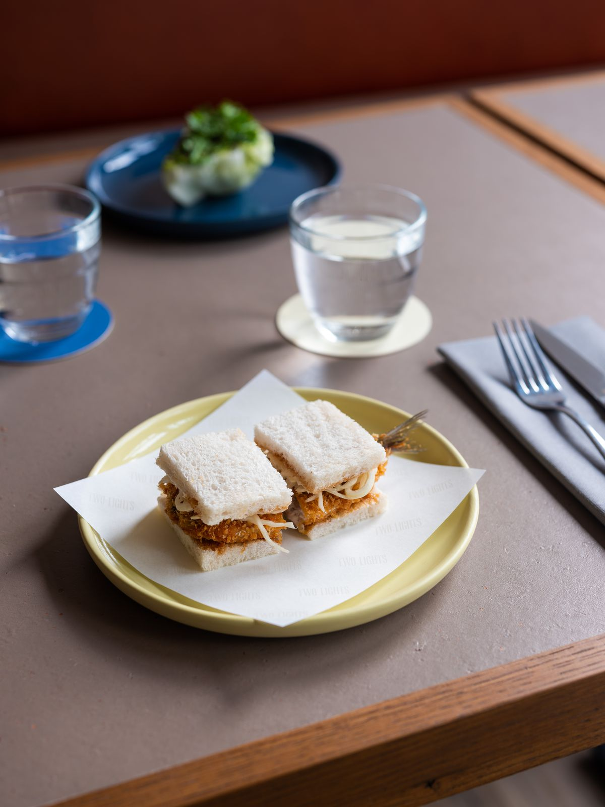 On trend: Sardine 'katsu' sandwich at Two Lights by Chase Lovecky in Shoreditch