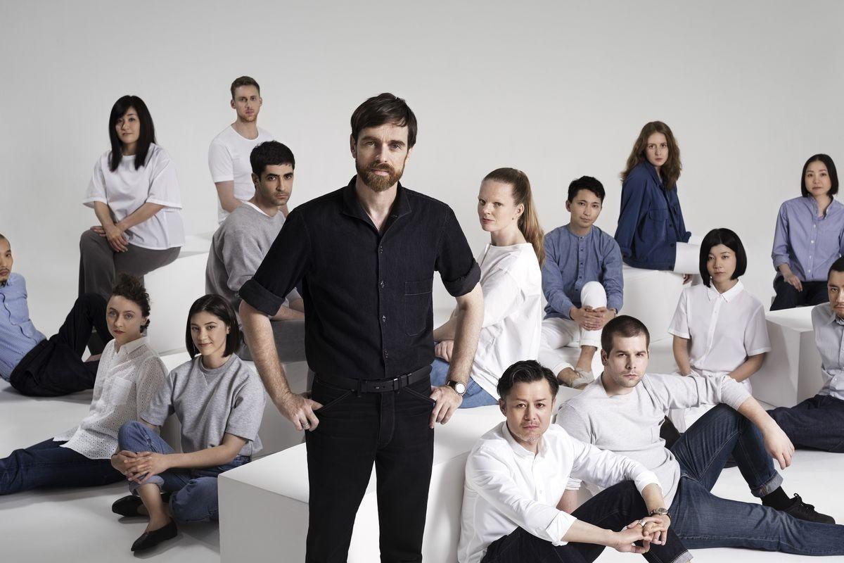 Christophe Lemaire with the UNIQLO Paris R&D Center team