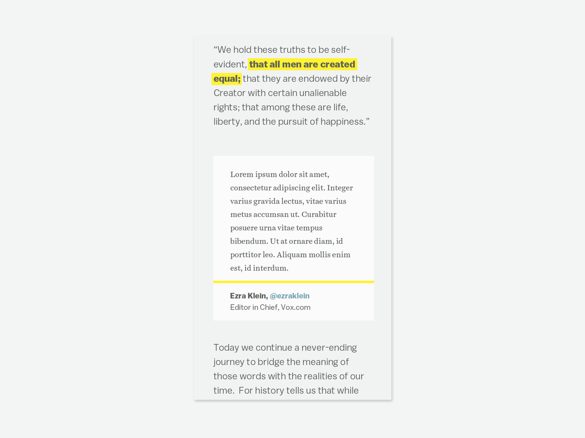 Screenshot of text, highlighted text in a paragraph corresponding to an annotation card.