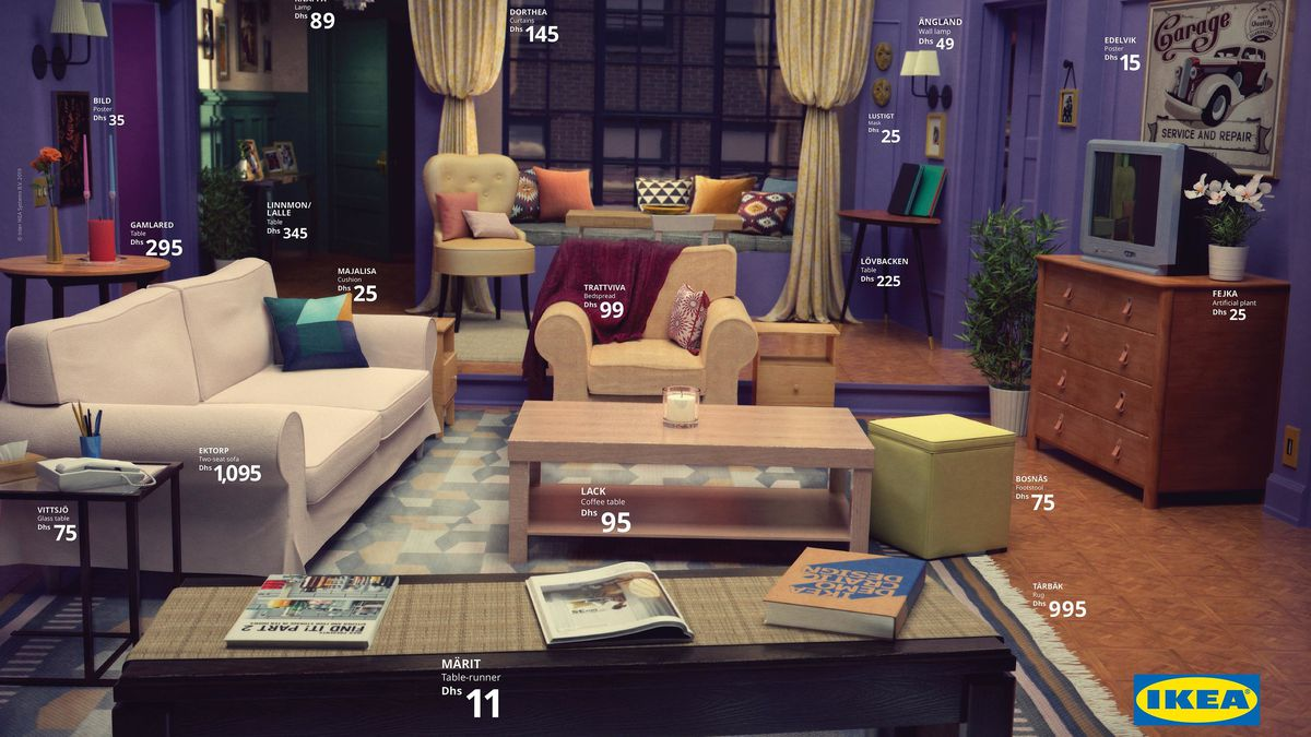 Ikea Living Room >> Ikea Recreated Famous Tv Living Rooms And I Am Uncomfortable Funny