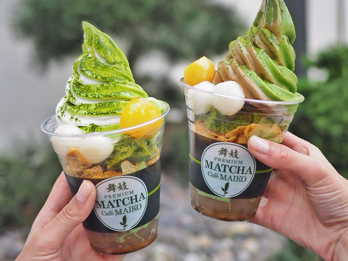 Soft-serve ice cream at Match Cafe Maiko