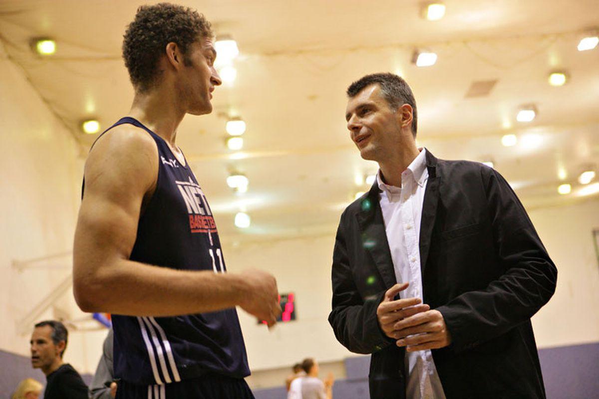 Mikhail Prokhorov & Brook Lopez (Dmitry Beliakov)