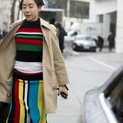 Stripes on the streets in Paris.