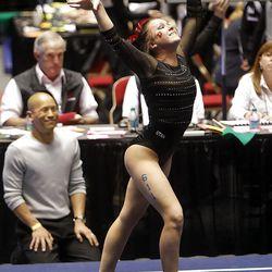 NCAA Salt Lake Regional Gymnastics Saturday, April 7, 2012 in Salt Lake City.