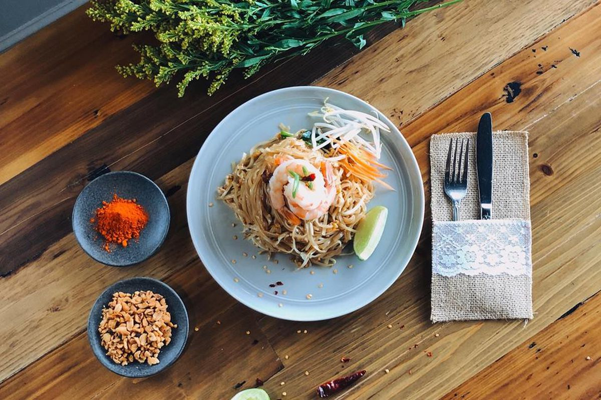 Shrimp pad thai from Rice Passions