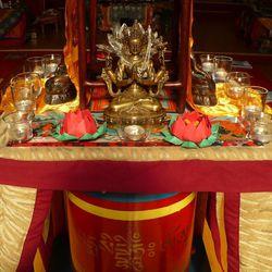Shrine celebrates the Buddhist god of compassion in Urgyen Samten Ling Gonpa Tibetan Buddhist Temple in Salt Lake City.