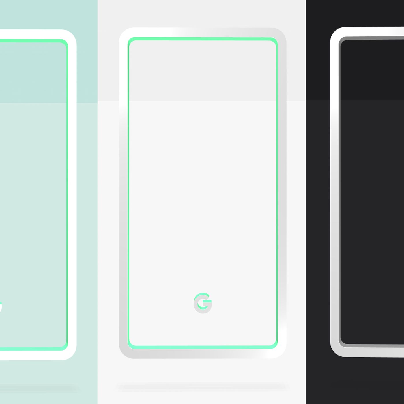 google reveals pixel 3 colors mint white and black the verge