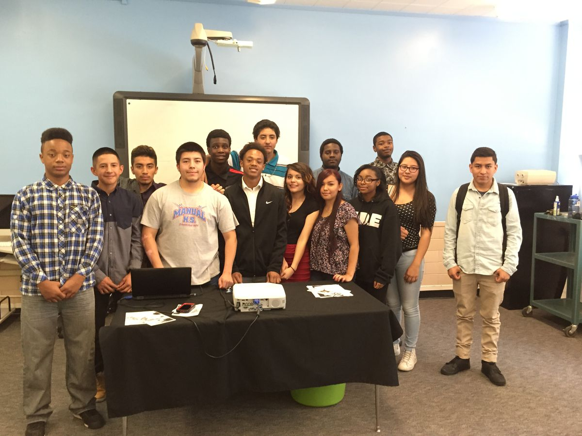 Chris DeRemer's AP Human Geography class after their presentations.