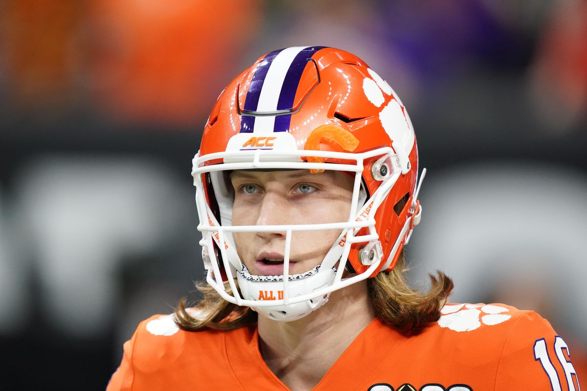 Clemson Tigers quarterback Trevor Lawrence before the College Football Playoff national championship game against the LSU Tigers at Mercedes-Benz Superdome.