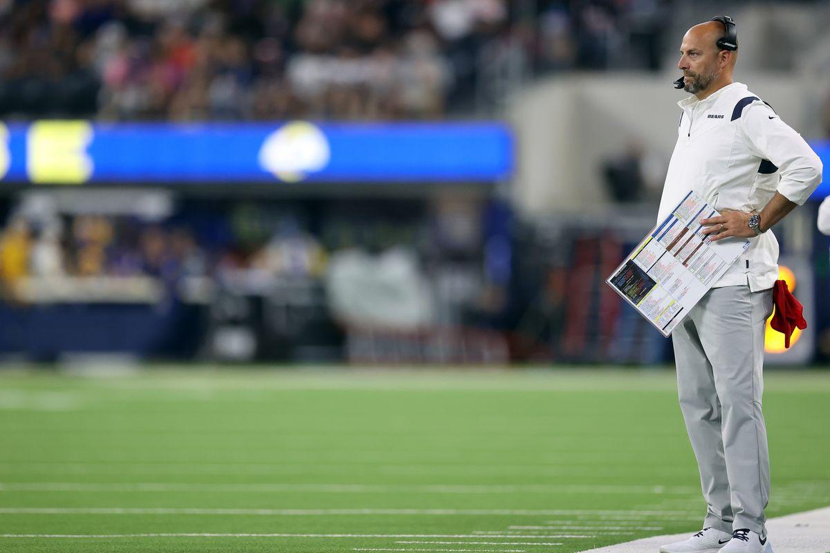 Bears coach Matt Nagy is under pressure to turn rookie quarterback Justin Fields into a success.