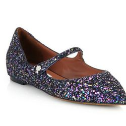 "Tabitha Simmons glitter Mary-Janes, <a href=""http://www.saksfifthavenue.com/main/ProductDetail.jsp?PRODUCT%3C%3Eprd_id=845524446705824&R=886932205023&P_name=Tabitha+Simmons&sid=1485875F35DD&Ntt=glitter&N=0&FOLDER%3C%3Efolder_id=2534374306443908&bmUID=kxnt"