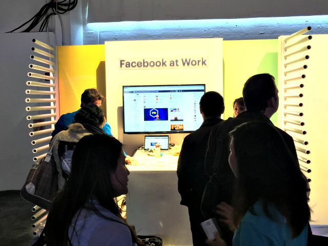 The Facebook at Work booth at F8