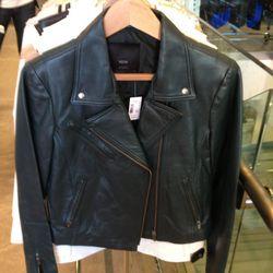 Veda Leather Moto, $280