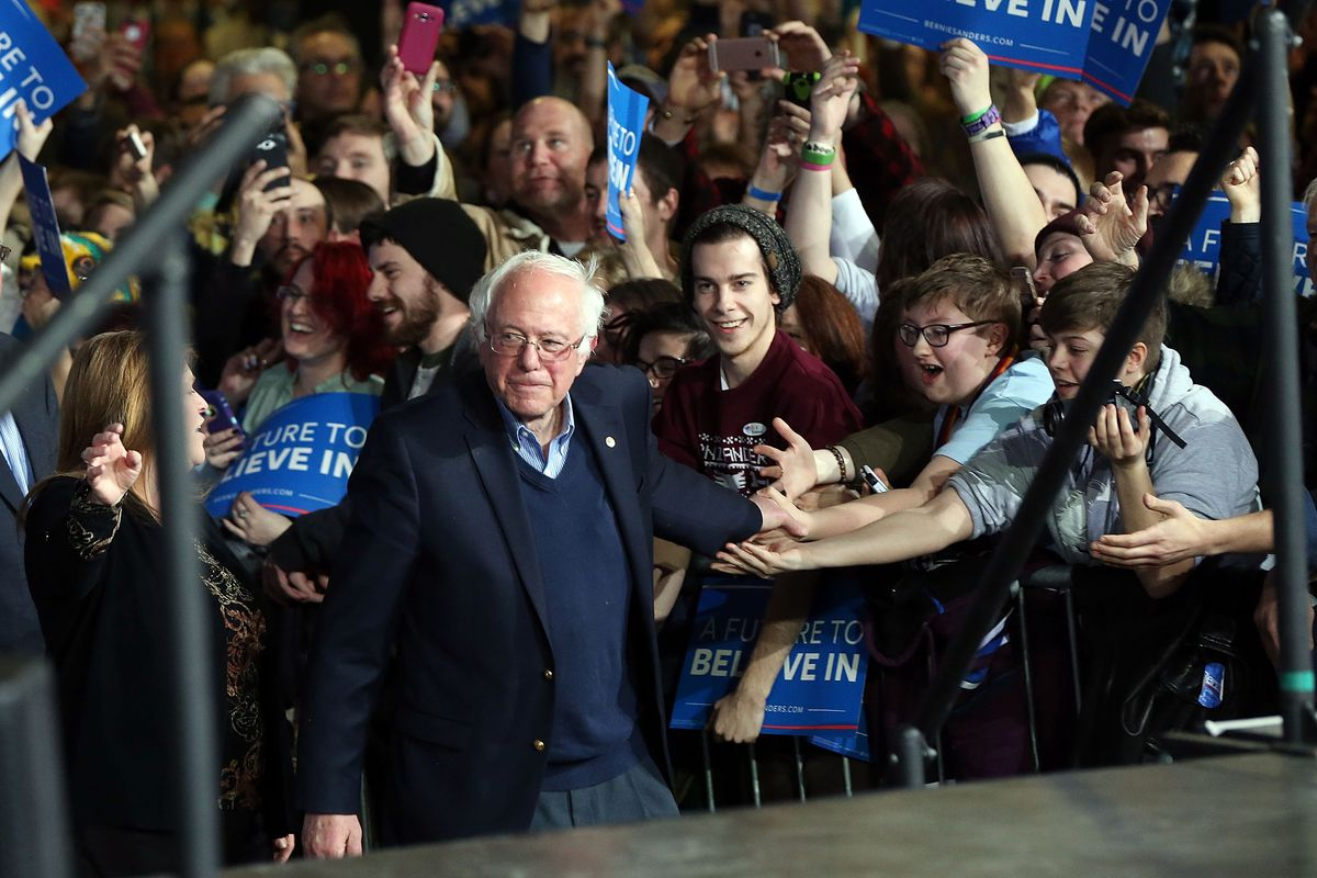 Bernie Sanders Holds Super Tuesday Campaign Rally In Vermont
