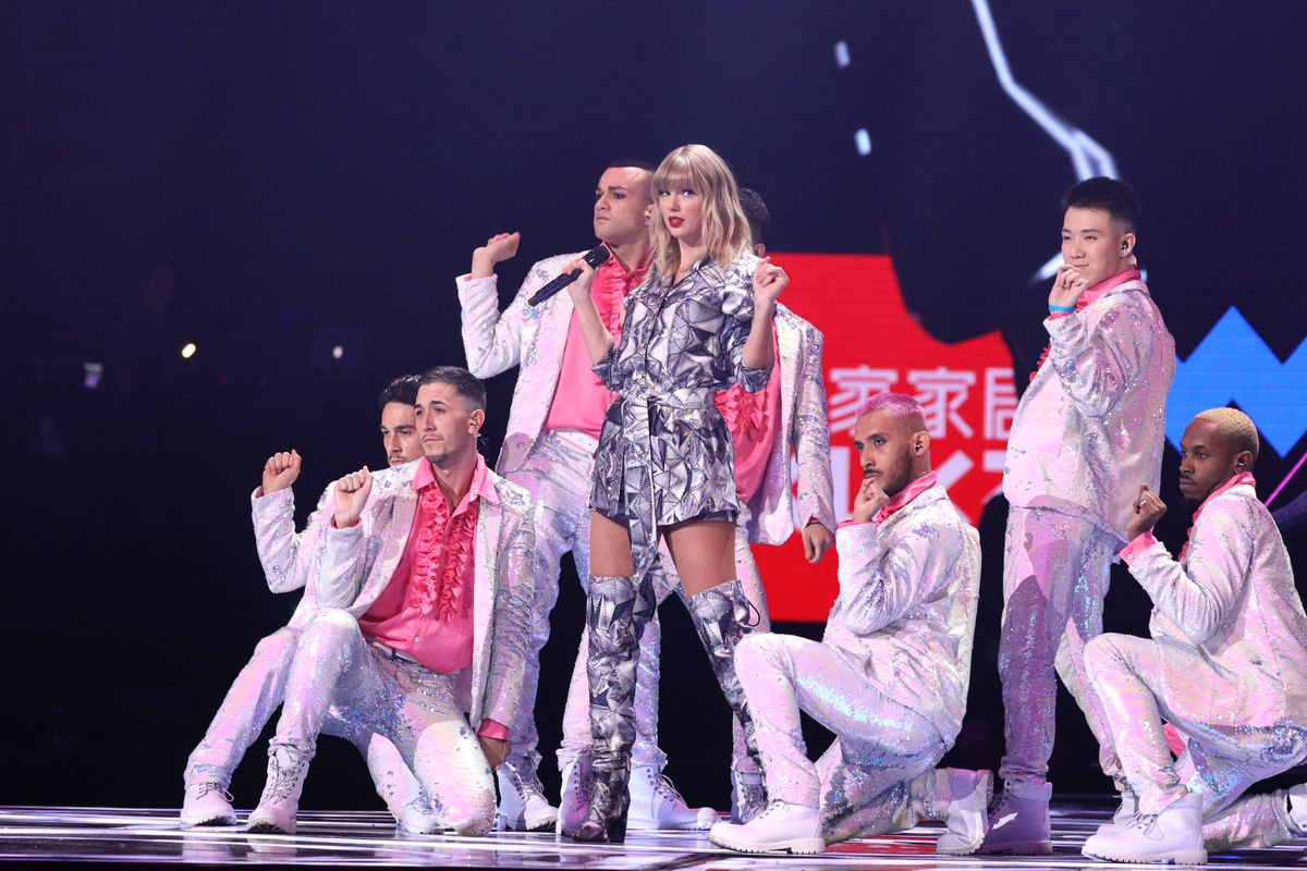 Taylor Swift performs at Alibaba's opening gala in Shanghai on Singles Day.