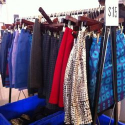 The colorful ikat and the gold and black skirts are super cute - especially for $15 each.